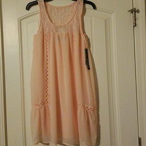 💎Sequin💎Hearts Crocheted Top Sheer Dress